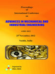 Proceeding of International Conference on Advances in Mechanical and Industrial Engineering by DR. CH R. VIKRAM KUMAR