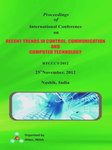 Proceeding of International Conference on Recent Trends in Control, Communication and Computer Technology RTCCCT-2012
