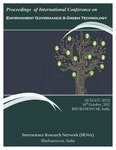 Proceedings of International Conference on Environment Governance & Green Technology